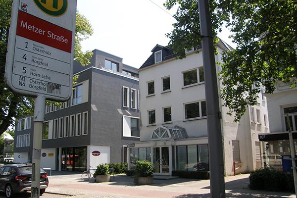 Haltestelle Metzer Strasse Schwachhausen, Physiotherapie Sventje Heise, Heilpraktikerin